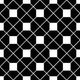 Tile black and white vector pattern Royalty Free Stock Images