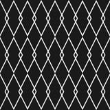 Tile black and white vector pattern Royalty Free Stock Photos