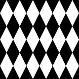 Tile black and white vector pattern Royalty Free Stock Photography