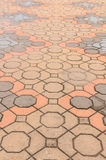 Tile brick floor Stock Photo