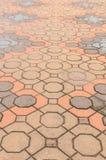 Tile brick floor Stock Photo