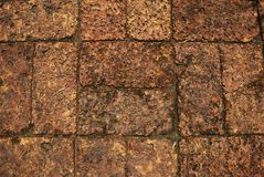 Tile bricks floor Royalty Free Stock Photography