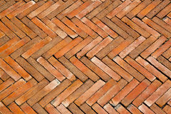 Tile bricks floor. Close up tile bricks floor background Stock Photography