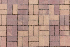 Tile. Bruschatnye colored tiled walkways diced Royalty Free Stock Photos