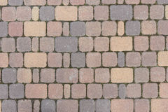 Tile. Bruschatnye colored tiled walkways diced Royalty Free Stock Photography
