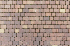 Tile. Bruschatnye colored tiled walkways diced Stock Images