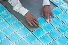 Tile builder swimming pool Stock Photos