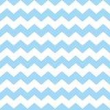 Tile chevron vector pattern with pastel blue and white zig zag background. For seamless decoration wallpaper Stock Images