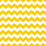 Tile chevron vector pattern with yellow and white zig zag background Stock Image