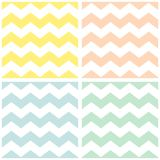 Tile chevron vector pattern with yellow and white zig zag background Royalty Free Stock Image