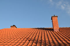 Tile and chimney Royalty Free Stock Photos