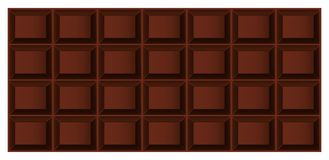 Tile of chocolate. Three-dimensional  tile dark or milk chocolate top view Royalty Free Stock Image