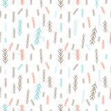 Tile Christmas background with blue and pink pine-tree twigs. Merry Christmas! Stock Images