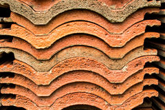 Tile clay. Tie clay is line for roof Royalty Free Stock Photography