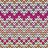 Tile colorful zig zag knitting vector pattern or winter background Royalty Free Stock Photo