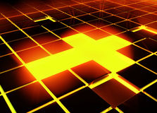 Tile Cross Light Royalty Free Stock Photo