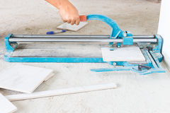 Tile cutting Royalty Free Stock Photos