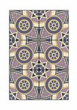 Tile with cylindrical patterns. Vector illustration of a carpet, EPS 10 file Stock Image