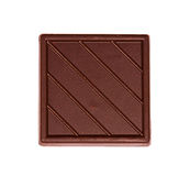 Tile of dark chocolate Royalty Free Stock Photo