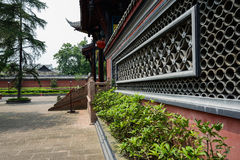 Tile-decorated enclosure of ancient Chinese building Royalty Free Stock Photos
