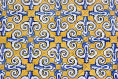 Tile decorated by hand Stock Photography