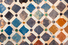 Tile decoration, Alhambra palace, Spain Stock Photography