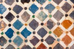 Tile decoration, Alhambra palace, Spain. Colorful tile decoration, Alhambra palace, Spain stock illustration