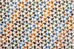 Tile decoration, Alhambra palace, Spain Royalty Free Stock Image