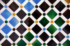 Tile decoration, Alhambra palace Stock Photos