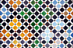 Tile decoration, Alhambra palace Royalty Free Stock Photography