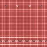 Tile decoration. Red square tiles with decor. Interior design for kitchen, bathroom, toilet. Background pattern. Decor element. Decoration and borders Royalty Free Stock Photo