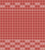 Tile decoration. Red square tiles with decor. Interior design for kitchen, bathroom, toilet. Background pattern. Decor element. Decoration and borders Royalty Free Stock Photos