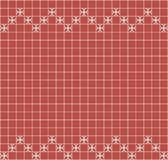 Tile decoration. Red square tiles with decor. Interior design for kitchen, bathroom, toilet. Background pattern. Decor element. Decoration and borders Royalty Free Stock Image