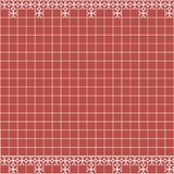 Tile decoration. Red square tiles with decor. Interior design for kitchen, bathroom, toilet. Background pattern. Decor element. Decoration and borders Stock Photography