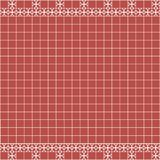 Tile decoration. Red square tiles with decor. Interior design for kitchen, bathroom, toilet. Background pattern. Decor element. Decoration and borders Royalty Free Stock Photography