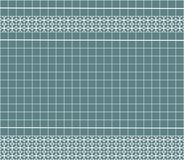 Tile decoration. Steal teal square tiles with decor. Interior design for kitchen, bathroom, toilet. Background pattern. Decor elem. Ent. Decoration and borders Stock Photos