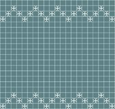 Tile decoration. Steal teal square tiles with decor. Interior design for kitchen, bathroom, toilet. Background pattern. Decor elem. Ent. Decoration and borders Royalty Free Stock Photos
