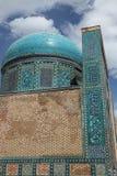 Tile dome. Tile decorated dome in the shakhizinda mausoleum complex of samarkand, uzbekistan stock images