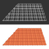 Tile element of roof Royalty Free Stock Image