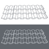 Tile element of roof. Eps10 vector illustration. Royalty Free Stock Photo