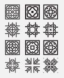 Tile element tribal celtic knot Stock Photos