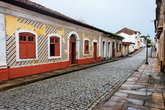 Tile Facade in Sao Luis do Maranhao Royalty Free Stock Photography