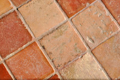 Tile floor. A nice and old traditional brown tile floor Royalty Free Stock Photo