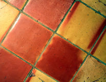 Tile Floor. This is a close up image of the squares of a tile floor stock images