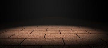 Tile floor. Tiling detail with dramatic light vector illustration
