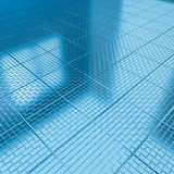 Tile floor Blue Check Royalty Free Stock Images