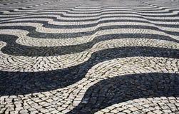 Tile floor. In Lisbon, Portugal stock images