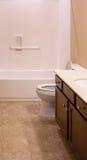 Tile Floor in New Bathroom Stock Image