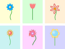 tile with flower background Royalty Free Stock Images