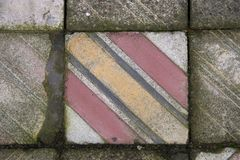 Tile of a former synagogue. Where Jews who had to walk to the gas chambers at Auschwitz, Poland Royalty Free Stock Photography